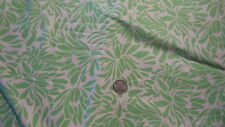Cotton Fabric, DAISY CHAIN GREEN on WHITE  by Amy Butler for Rowan 1 Yd/44""