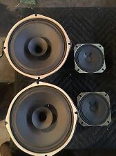 """Stereo Console Vintage Speakers Alnico Magnet 7"""" Woofer, And 2 Tweeters"""