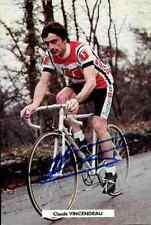 CLAUDE VINCENDEAU Team SUPER U Signed Autographe cycling Signé cyclisme