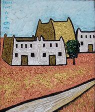 British Randa Fawzi (1952) ABSTRACT EXPRESSIONIST OIL PAINTING ART Nigeria