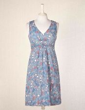 NEW $98 BODEN COTTON 50'S BLUE FLORAL PRINT EVERYDAY SUMMER DRESS WH335 - US 14L