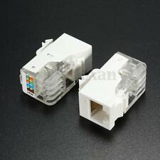 10pcs RJ45 CAT5e 8P8C Toolless Module Keystone Jack Adapter Plug Snap In Network