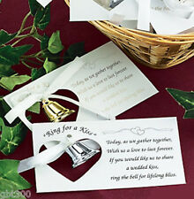 100 Silver Metal Kissing Bell Wedding Kiss Poem Reception Favor Table Decor Lot