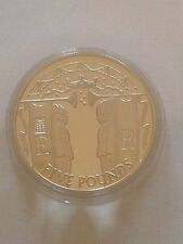 2002 Gold Silver Proof 1oz £5 Five Pound Coin. ER Jubilee Coronation Procession