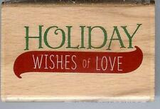Janet Dunn Studio g HOLIDAYS, WISHES OF LOVE Wood Mounted Stamp 1084380