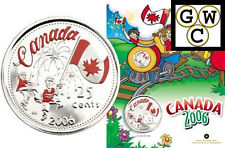 2006 Canada Day Colorized 25ct (with 4 Crayons) (11914)