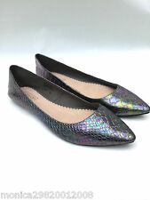 TOPSHOP SNAKE VOLTAIRE POINTED FLAT SHOES SIZE UK5/EUR38/US7.5