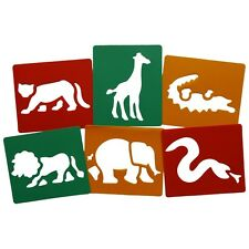 New Wild Animal stencils Pack Of 6  Painting Stencil Art
