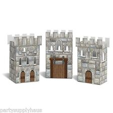 GAME of THRONES Medieval CASTLE FAVOR BOXES (3 COUNT) Party Decorations