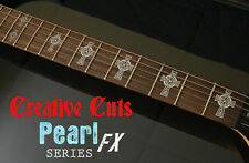 Celtic Cross MOP & BLACK Vinyl Inlay Sticker Decal for BASS and GUITAR