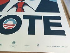 2008 Official Barack Obama Campaign VOTE Poster Print SHEPARD FAIREY Obey #5000