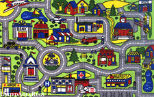 """4'3""""x6'6""""  Area Rug  Kid's  Play  Road  Map Street Driving Time Airport New  5x7"""