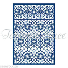 Tattered Lace Cutting Die - Floral Lace Background - Flowers - ETL77 - New Out