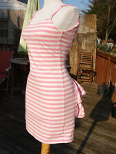 NWT BETSEY JOHNSON STRIPED LYCRA TAIL FEATHER DRESS~MEDIUM SALE