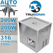 New Stainless Steel 10L Liter Industry Heated Ultrasonic Cleaner Heater Timer *