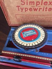 Vintage Simplex Toy Typewriter Model 100 w/original Box - Rare