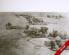 WORLD WAR 1 WWI OTTOMAN MACHINE GUN LINE IN DESERT PHOTO REAL CANVAS ART PRINT