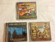 NEW CDs ~~ Texas - Legends - Blues - New Country ~~  3 CDs 1 Money ~~ GIFT ~ NEW