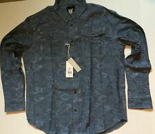 Staple Pigeon - Ligjt Blue Floral Button Down Long Sleeve Shirt NWT - XXL