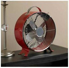 10in Classic Red Retro Desktop Fan Cool Cooling Fresh Air Comfort Heatwave Cold