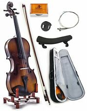 NEW Solid Maple Spruce Fiddle Violin 1/4 Size w Case Bow Rosin String VN201