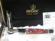 stilografica Regal Royal British Stylo WINSOR Mosaic Nib Rhodium 8,3 mm siz.M