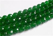 "8mm Faceted Natural Green Emerald Loose Beads Gemstone 15""AAA"