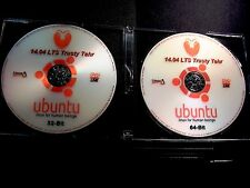 UBUNTU Linux 14.04 LTS 32&64-Bit LIVE/Install 2-DVD set+Sticker+/Extras(UPDATED)