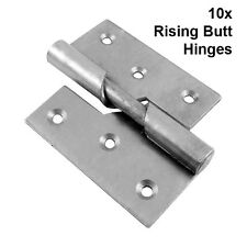 10x Specialist Left Handed Rising Butt Hinges Zinc Plated 75mm Chrome