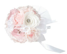 LILLIAN ROSE SILK BLUSH PINK WEDDING BRIDAL BOUQUET