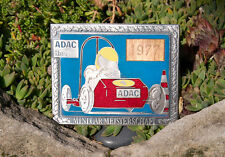 VINTAGE ENAMEL AUTOMOBILE CAR CLUB BADGE # ADAC MINI CAR TOURNAMENT HESSEN 1977