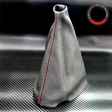 PEUGEOT 206 CC HDI GTI SW RED STITCH BLACK LEATHER GEAR STICK KNOB COVER GAITER