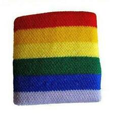 Gay Pride Rainbow Wrist Band Wristband Sweat Lesbian