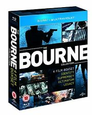 "THE COMPLETE BOURNE 4 MOVIE COLLECTION 4 DISC BOX SET BLU-RAY RB ""NEW&SEALED"""
