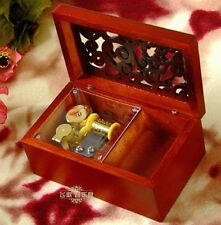 Wooden Rectangle Carving Jewelry Music Box:Prologue / Harry Potter Hedwigs Theme
