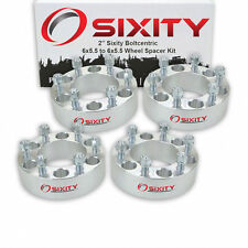 "(4) 2"" For Chevy Wheel Spacers Adapters 6x5.5 Silverado 1500 Tahoe Suburban"
