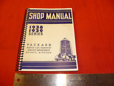 1938-39 Packard Shop Manual glove box size
