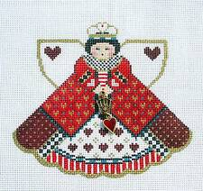 SP ~ Queen of Hearts Angel, Charms & STITCH GUIDE Needlepoint Canvas Paint Pony