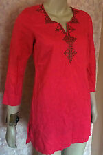 MARKS & SPENCER PINK OR LIME LINEN BLEND TUNIC SZE 8,10,12 CLEARANCE