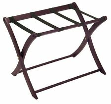 Winsome Wood Luggage Rack Suitcase Holder Straps Stand Folding Passenger Packing