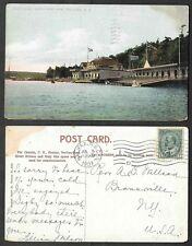 1907 Canada Postcard - Halifax, Nova Scotia - North West Arm of Boat Club