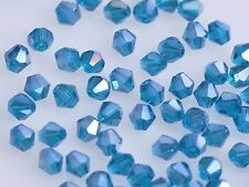 Lot Wholesale 500pcs 4mm Bicone Crystal Glass Faceted Loose Spacer Beads