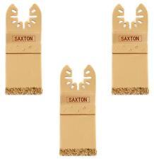 3x Saxton Carbide End Cut Blade Dewalt Stanley Oscillating Multitools