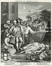 Hogarth Print Reproductions: Cruelty in Perfection - Plate 3: Fine Art Print