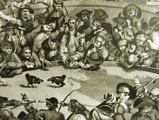 J. Scott William Hogarth COCK PIT ROOSTERS FIGHTING GAMBLING 1924 Print Matted
