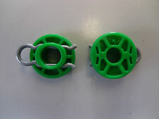 GENUINE 2X SAAB 900 93 95 GREEN WINDOW REGULATOR ROLLERS 4493433 9-3 9-5
