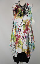 STUNNING SARAH SANTOS PARACHUTE DRESS/COAT VISCOSE/SILK  SIZE L/XL  MULTI