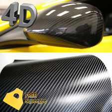 "24"" x 60"" 4D Gloss Black Carbon Fiber Vinyl Sticker Wrap Bubble Free Air Release"