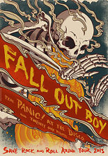 """Fall Out Boy -Rock Band Music Star Fabric poster 20"""" x13"""" Decor 14"""