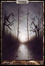 TEXTLESS FULL ART Palude - Swamp MTG MAGIC Unhinged English EXC-NM